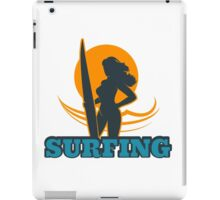 Surfing Colorful Emblem iPad Case/Skin