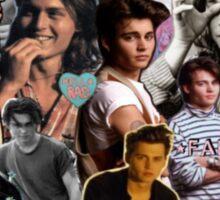 90's Johnny Depp  Sticker