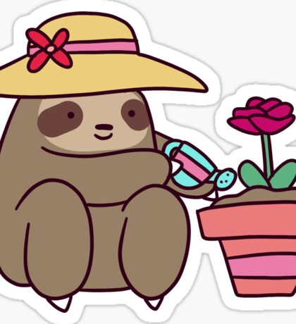 Gardener Sloth Sticker