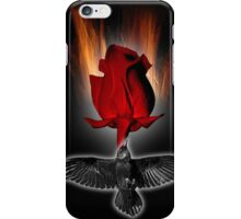 crow rose iPhone Case/Skin
