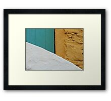A Wall, A Gate, and A Staircase Framed Print