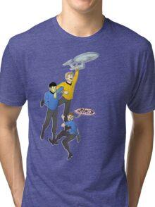 Boldly Go - Star Trek Triumvirate Tri-blend T-Shirt
