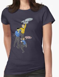 Boldly Go - Star Trek Triumvirate Womens Fitted T-Shirt