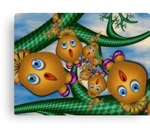 Inner Child - Birds Singing in Pink Shoes Canvas Print