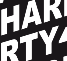 Cool Work Hard Party Harder Logo Design Sticker