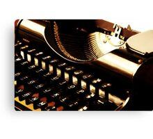The Vintage Typewriter Canvas Print