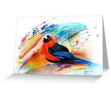 Masked Crimson Tanager Greeting Card