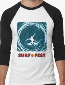 Surf Fest Emblem Men's Baseball ¾ T-Shirt