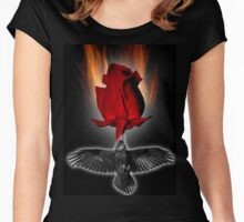 crow rose Women's Fitted Scoop T-Shirt