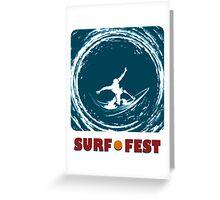 Surf Fest Emblem Greeting Card