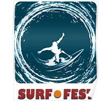 Surf Fest Emblem Poster