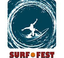 Surf Fest Emblem Photographic Print