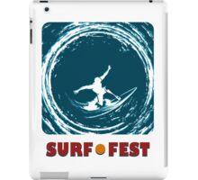 Surf Fest Emblem iPad Case/Skin