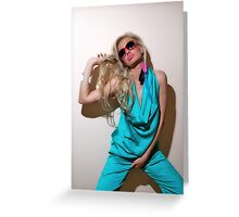 Sexy blond girl in fashion shoot Greeting Card