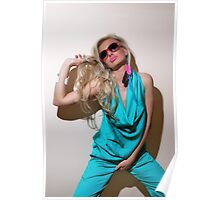 Sexy blond girl in fashion shoot Poster