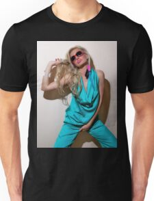 Sexy blond girl in fashion shoot Unisex T-Shirt