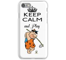 Golf Fred Flintstone The Flintstones iPhone Case/Skin