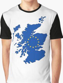 Scotland Map EU Graphic T-Shirt