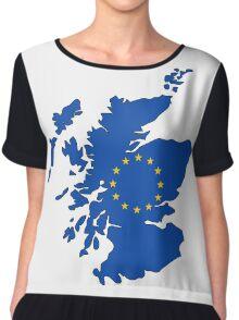 Scotland Map EU Chiffon Top