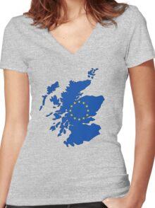 Scotland Map EU Women's Fitted V-Neck T-Shirt
