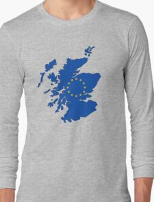 Scotland Map EU Long Sleeve T-Shirt
