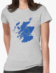 Scotland Map EU Womens Fitted T-Shirt