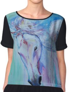 Running in shades of pink and blue Chiffon Top