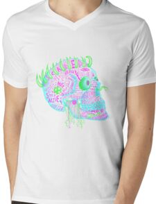 anti-love and peace skull Mens V-Neck T-Shirt