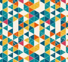 Retro diamond origami design Sticker