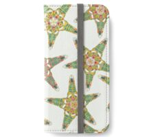 starfish flowers off white iPhone Wallet/Case/Skin