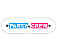 Party Team Crew Member Sticker