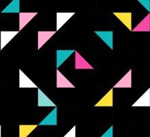Retro triangle. Pink, yellow, blue Sticker