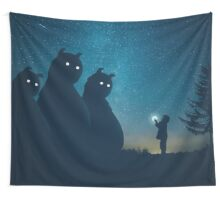 The Gift (blue) Wall Tapestry