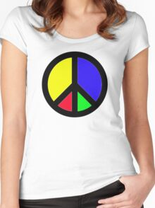 Rainbow Peace Women's Fitted Scoop T-Shirt
