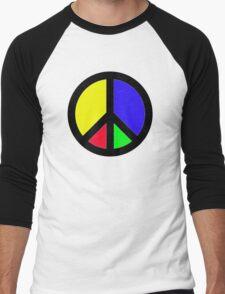 Rainbow Peace Men's Baseball ¾ T-Shirt