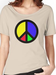 Rainbow Peace Women's Relaxed Fit T-Shirt