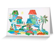 Gulf Cottage Greeting Card