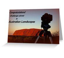 Australian Landscape banner challenge Greeting Card