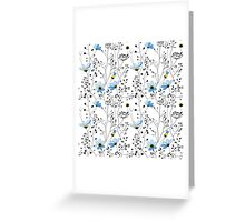 Wild plants and blue flowers Greeting Card