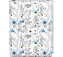 Wild plants and blue flowers iPad Case/Skin