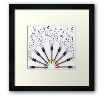Paint The world with Music Framed Print