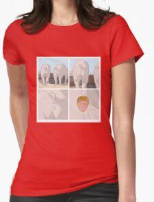 Peekaboo - Piggie Womens Fitted T-Shirt
