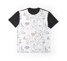 Cow parsnip on white backdrop Graphic T-Shirt