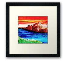A Get Away Framed Print