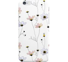 Delicate flowers on white iPhone Case/Skin