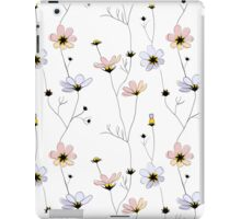 Delicate flowers on white iPad Case/Skin