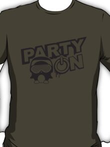 Party On Power Energie Logo T-Shirt