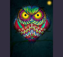"""""""Angry Owl by Night"""" Womens Fitted T-Shirt"""