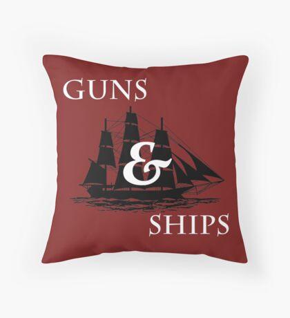 Hamilton: Guns & Ships Throw Pillow