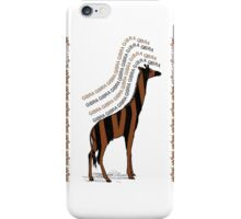 Safari - Gibra [zebra+ giraffe] iPhone Case/Skin